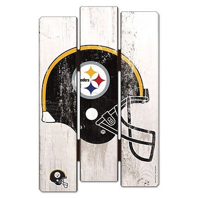 "Pittsburgh Steelers Official NFL 11""x17"" Wood Fence Sign by Wincraft 113849"
