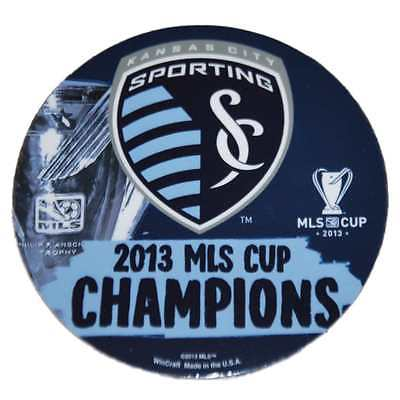 "Sporting KC Kansas City Wincraft 2013 MLS Cup Champions 4"" Die-Cut Magnet"