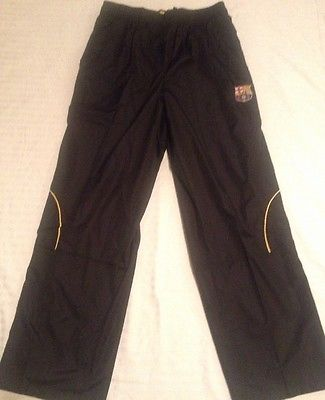 FC Barcelona Soccer Futbol Warm Up Lined Wind Breaker Pants Mens New