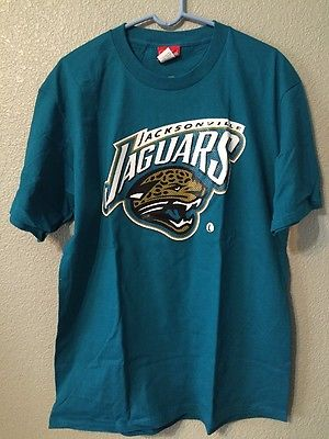 NWT NFL Jacksonville Jaguars Short Sleeve T-shirt 100% Cotton Teal Men's L NWT