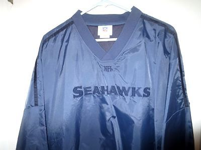 SEATTLE SEAHAWKS NFL POLYESTER WIND BREAKER PULLOVER IN SUPERB CONDITION