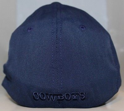 Dallas Cowboys NFL Flex Fit Hat Total Tonal D Stretch Fit Unisex Cap - Navy Blue