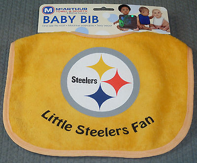 NFL NWT INFANT BABY BIB - YELLOW - PITTSBURGH STEELERS
