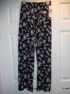 51028-1 Mens Licensed NFL Apparel OAKLAND RAIDERS Pajama Pajamas Pants BLACK