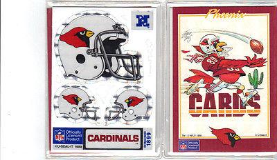 NFL Arizona Cardinals 1989 U-SEAL-IT STICKERS