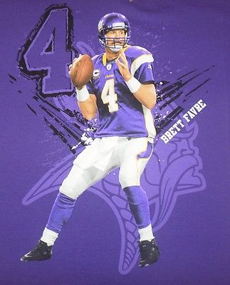 NFL Minnesota Vikings #4 Brett Favre Player T-shirt Size 10-12