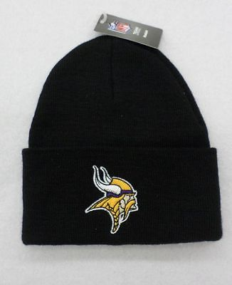 NFL Minnesota Vikings Black Youth Reebok Basic Watch Cap 8-18