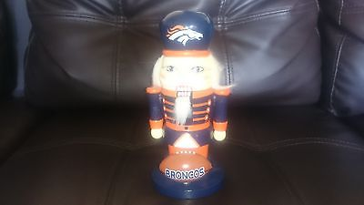 Denver Broncos wooden nutcracker figurine/collectible/memorabilia NFL