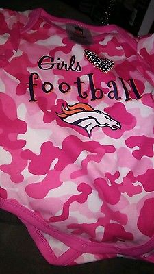 NWT-NFL DENVER BRONCOS INFANT GIRLS ONESIE SIZE 3-6 mnths