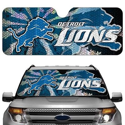 NFL ASNF11 Detroit Lions Car Sun Shade (Blocks 99% of UV-A and UV-B Rays)