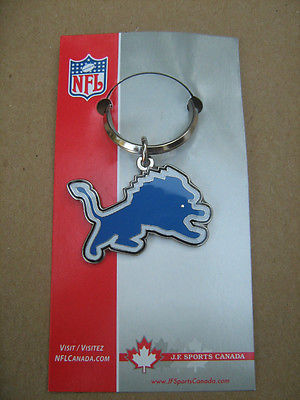 NFL Detroit Lions JF Sports Key Chain Ring Fob