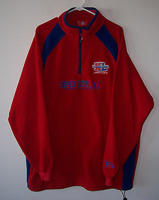 2006 NFL Super Bowl XL 40 Embroidered 1/2 Zip Pullover Fleece Jacket XXXL 3XL