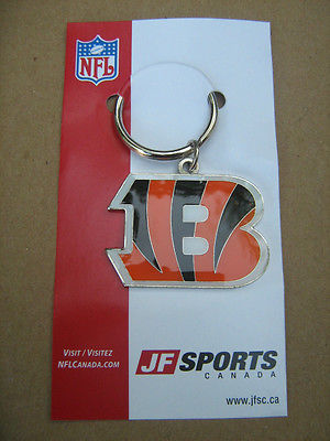 NFL Cincinnati Bengals JF Sports Key Chain Ring Fob