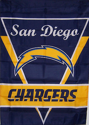 "28""x40"" SAN DIEGO CHARGERS GARDEN BANNER FLAG NEW nfl au"