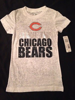 Chicago Bears Girls NFL Team Apparel T-Shirt Youth Girls Size Large