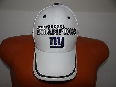 NFL Team Apparel N.Y Giants SUPER BOWL XLVI 2011 CONFERENCE CHAMPIONS Velcro Hat