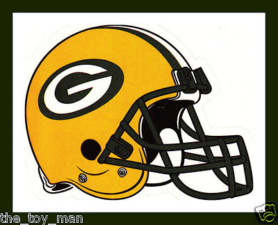 GREEN BAY PACKERS FOOTBALL NFL LICENSED TEAM LOGO HELMET INDOOR DECAL STICKER