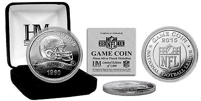 Dallas Cowboys 2015 Team NFL Logo Silver Plated Game Coin