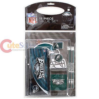 NFL Philadelphia Eagles 11pc School Stationary Set Team Logo Study Vaule Kit