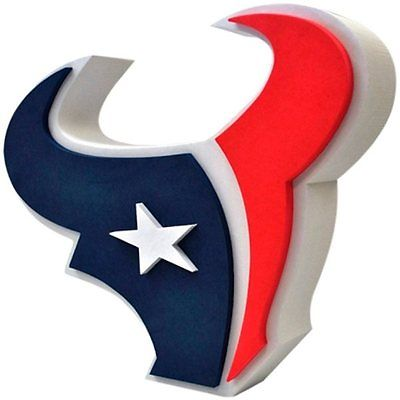 NFL FH2133 Houston Texans Fan 3D Foam Logo Sign - Approximately 18""