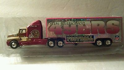 1999 49ERS San Francisco NFL Team Collectible White Rose 1:80 scale Transporter