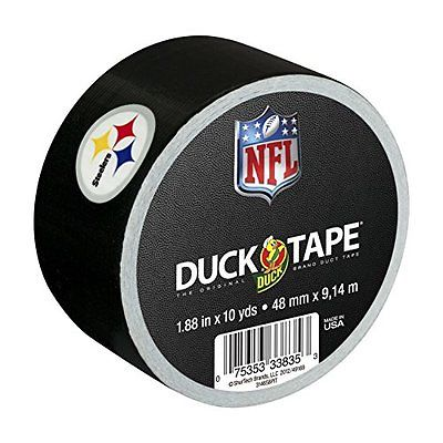 "Duck Brand 241410 Pittsburgh Steelers NFL Team Logo Duct Tape, 1.88"" By 10 Yard"