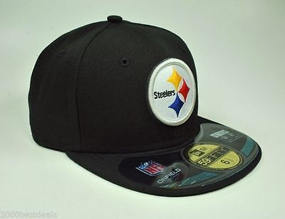 NEW ERA 59FIFTY KIDS CAP PITTSBURGH STEELERS BLACK NFL ON FIELD FITTED HAT