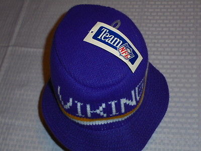 Purple Minnesota Vikings Vintage NFL Knit Bucket Hat NWT Cliff Engle Style Rare
