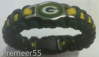 NFL GREEN BAY PACKERS Paracord Bracelet SIZE 8.5""