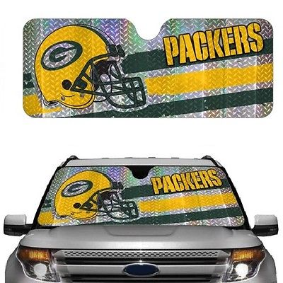 NFL ASNF12 Greenbay Packers Car Sun Shade (Blocks 99% of UV-A and UV-B Rays)