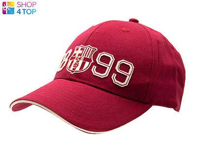 FC BARCELONA FOOTBALL CLUB SOCCER TEAM 1899 RED BASEBALL CAP OFFICIAL HAT NEW