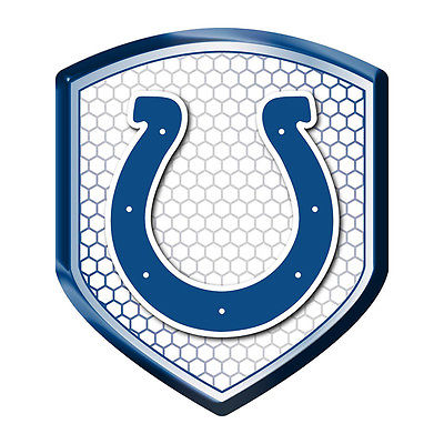 "NFL RFNF13 Indianapolis Colts Logo Reflector Shield (2.5"" x 3.5"")"