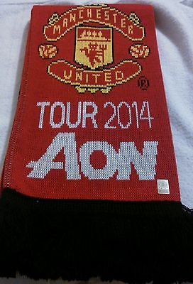New Scarf Official Licensed Unique MANCHESTER UNITED CF Soccer Team Scarfs AON