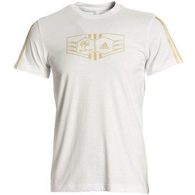 adidas France White World Cup Soccer T-shirt
