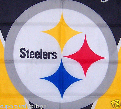 "28""x40"" PITTSBURGH STEELERS GARDEN BANNER FLAG  NEW nfl au"