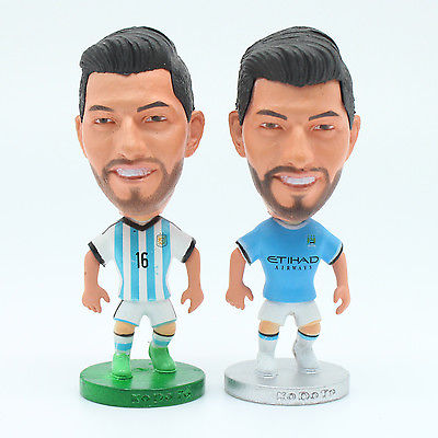 6.5 cm High Manchester City Sergio Kun Aguero Argentina Action Figure Doll