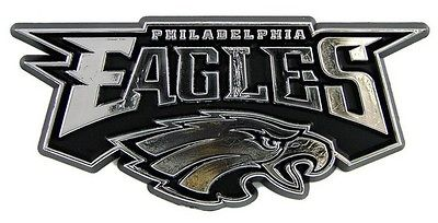 "NFL NF23 Philedelphia Eagles Logo Chrome Auto Emblem 3"" x 3"""