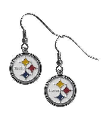 NFL FDE160 Pittsburgh Steelers Dangling Earrings