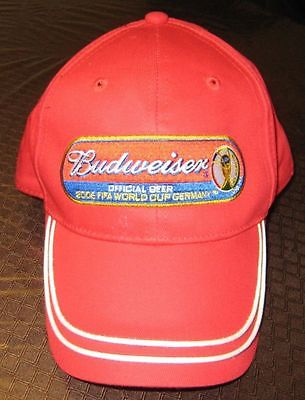 2002 FIFA WORLD FOOTBALL SOCCER CHAMPIONSHIP JAPAN-KOREA BUDWEISER OFFICIAL CAP