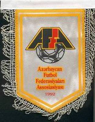 AZERBAIJAN FOOTBALL FEDERATION OLD LOGO SMALL MINI PENNANT #2
