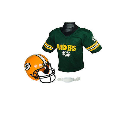 Franklin Sports NFL Green Bay Packers Helmet & Jersey Set