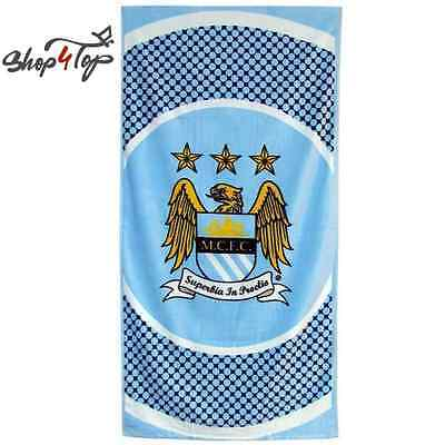 MANCHESTER CITY BE OFFICIAL FOOTBALL SOCCER CLUB TEAM BATH BEACH TOWEL COTTON