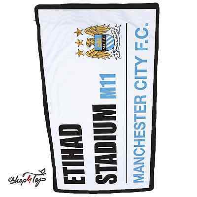 MANCHESTER CITY SS OFFICIAL FOOTBALL SOCCER CLUB TEAM BATH BEACH TOWEL COTTON