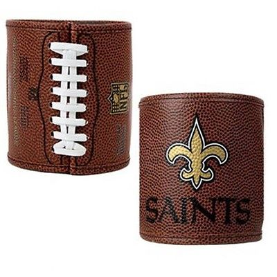 NFL FBCH2014 New Orleans Saints Leather Team Logo Can Koozie