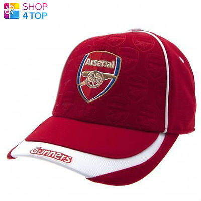 ARSENAL FC BASEBALL CAP HAT RED GUNNERS FOOTBALL CLUB SOCCER TEAM OFFICIAL NEW