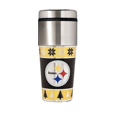 NFL TTWM2017-US Pittsburgh Steelers Holiday Travel Mug