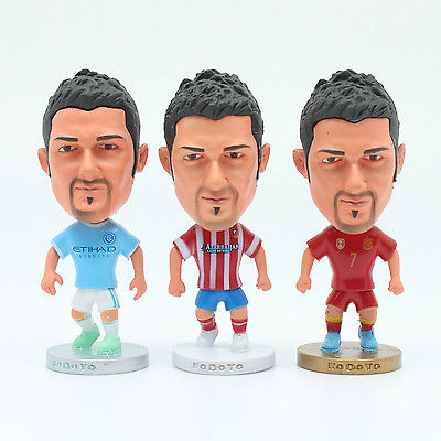 6.5 cmHigh Atletico de Madrid New York City David Villa Spain Action Figure Doll