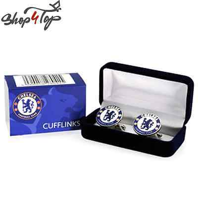 CHELSEA OFFICIAL FOOTBALL SOCCER CLUB TEAM METAL CUFFLINKS CUFF LINKS JEVELRY