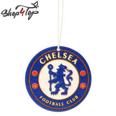 CHELSEA FC FOOTBALL SOCCER CLUB TEAM CAR AIR FRESHENER CITRUS SCENT HANGING NEW