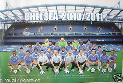 CHELSEA FC 2010-2011 FOOTBALL CLUB POSTER-Team On Field